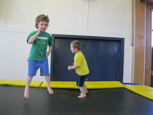 Gym tots action
