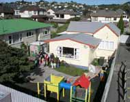 Photo of the old Karori Childcare Centre building.  KCC Inc.